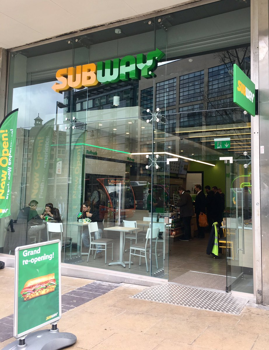 """Kevin Twynholm on Twitter: """"Lunch stop at the brand new Subway ..."""