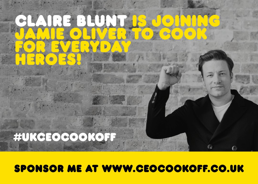 Big up to Claire Blunt from @HearstUK for joining me in the #ukceocookoff great to have you on board big love jox https://t.co/eXgO1fqaa1