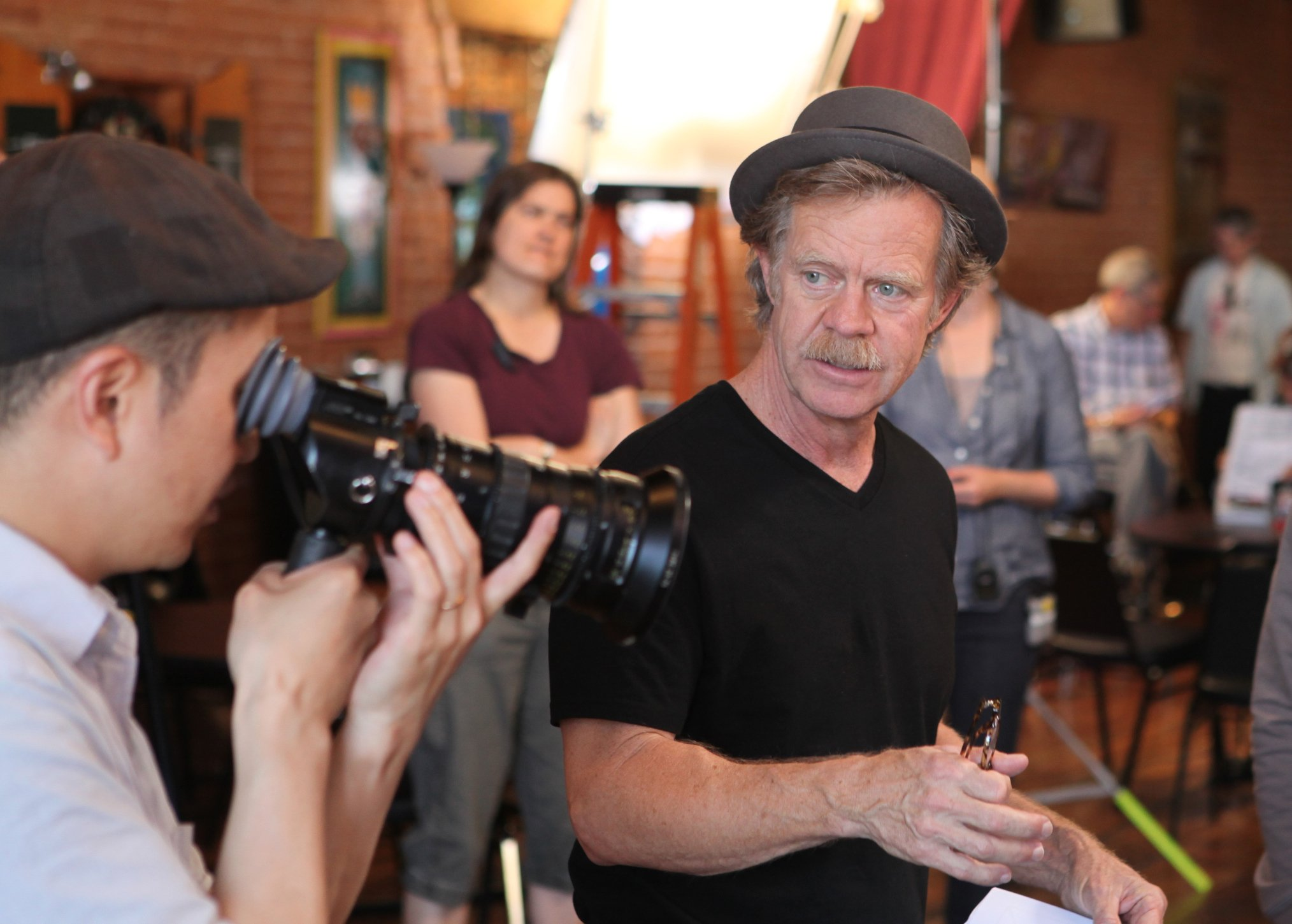 Happy birthday William H. Macy. On the set of Rudderless, 2014