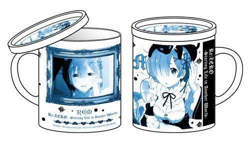 【グッズ情報】『Re:ゼロ レム フタ付きマグカップ』ティーバッグやお菓子を置く為の小皿としても使える、便利なフタ付き!