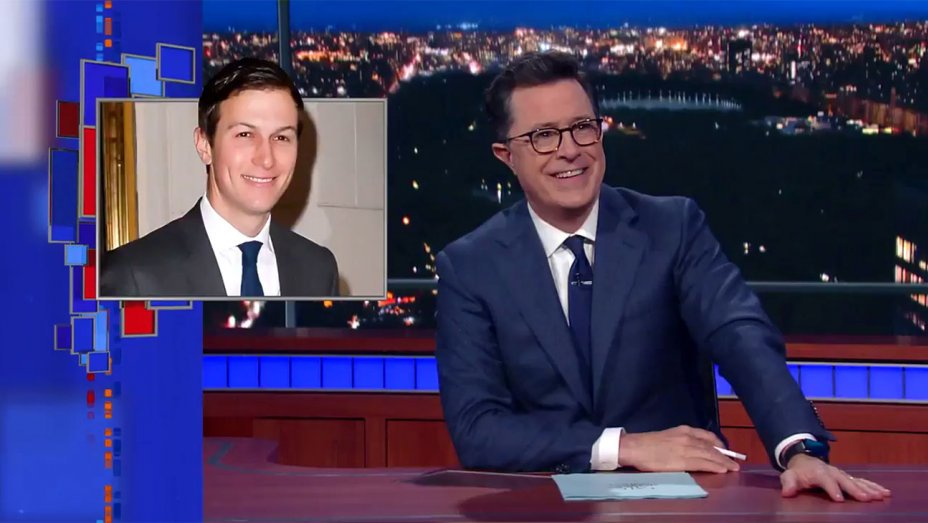 ".@ColbertLateShow mocks Jared Kushner's ""Bureau of Obvious Nepotism"""