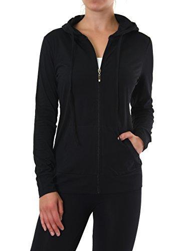 #fashion #free #style #win #giveaway Teejoy Women's Thin Cotton Zip Up Hoodie Jacket (L, Black) #rt