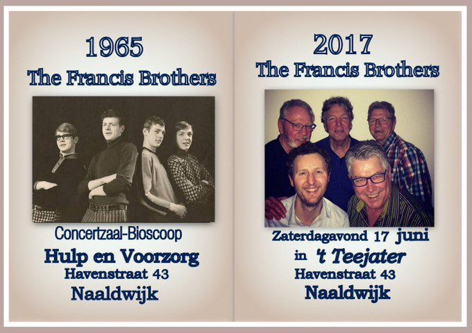 Gouden Concert The Francis Brothers op 17 juni https://t.co/YMOse00Ihk https://t.co/QNGFq3gbhA