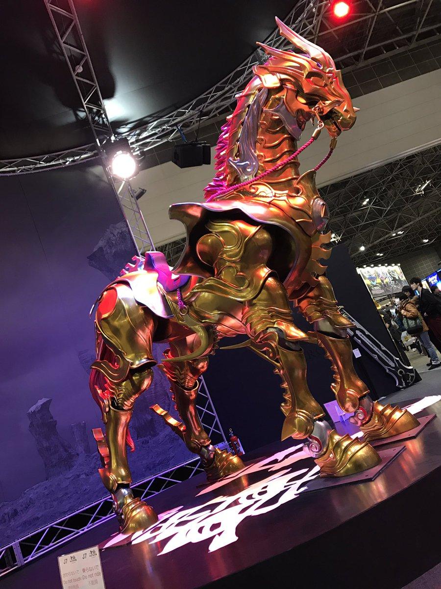 アニメジャパン 牙狼ブース。本日は黄金騎士が登場しますので是非お立ち寄り下さい。実物大轟天も必見です!