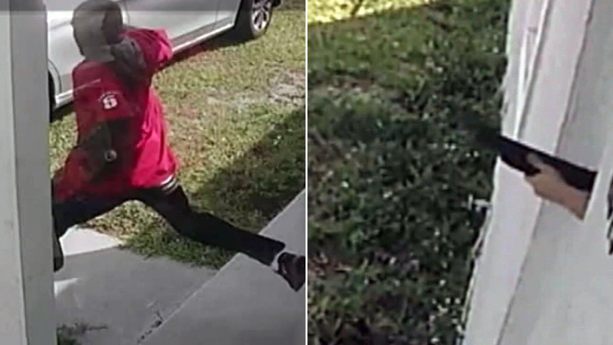 Surveillance video shows a mother protecting her 10-year-old daughter and 3-year-old son from alleged robber. #ABC13 https://t.co/BxXk5Nd3YR