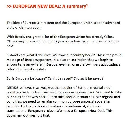 Democratize or Die? #DiEM25 launches a 'European New Deal' https://t.co/W1yW2KzeZr