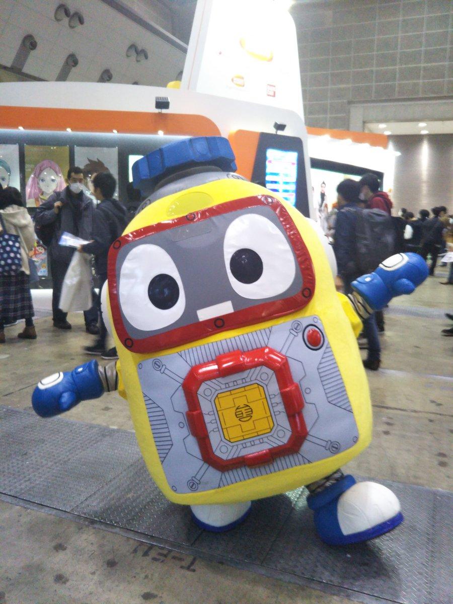 #animejapan #ヘボット が遊びに来てるよ!一緒に写真を撮ってね😳(卯