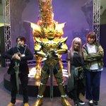 「炎の刻印」「DIVINE FLAME」林監督、ED主題歌佐咲紗花さん、ガルム役鵜殿麻由さんと。皆さんポーズが決まってま