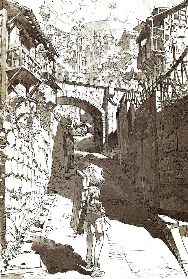 Yō Yoshinari. Ryuko illustration featured in the KlK Starter
