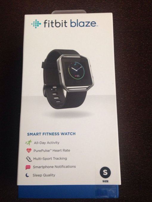 #free #fashion #watches #win #giveaway #np Fitbit BLAZE Smart Fitness Watch BLACK Band SMALL FB502SBKS BRAND NEW OEM #rt