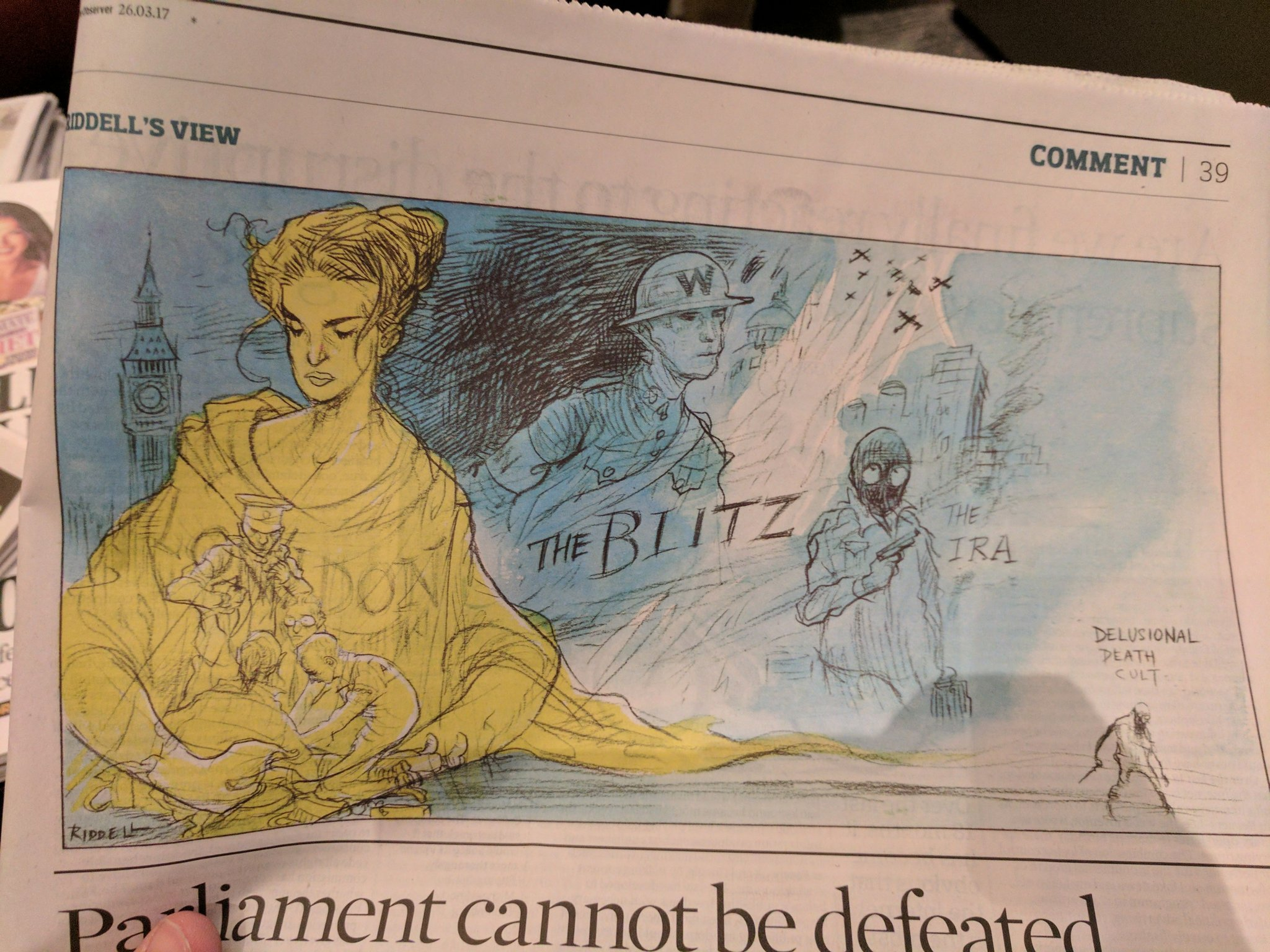 Lovely cartoon in the Observer today. https://t.co/Fr4EnJ6LtN