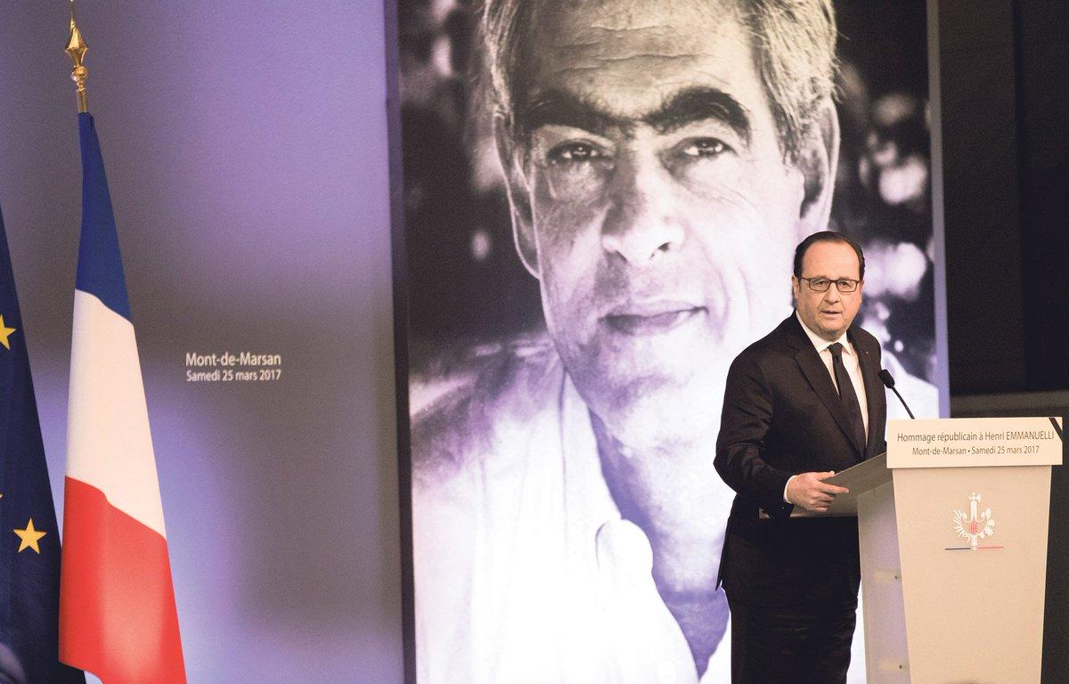 Hollande, aux funérailles d'Emmanuelli… et du PS https://t.co/RsN7PqU3AU