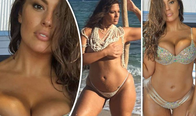 Ashley Graham goes TOPLESS before squeezing her ample assets into a TINY bikini in racy snaps. https://t.co/0BCIiyDnTl
