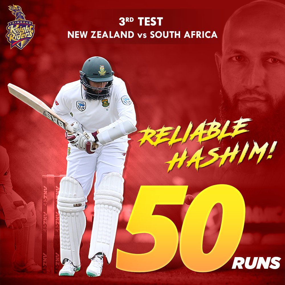 Our Knight, @amlahash scored his 32nd Test Fifty for South Africa in the third Test against the Kiwis. 👏 #NZvSA