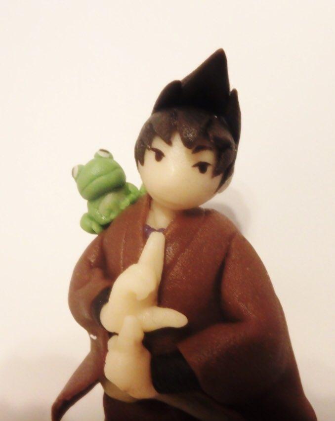 有頂天家族の矢一郎さんが、食べちゃいたいほど好きなので、マジパンで食べれる矢一郎さん作ってみた(*´v`) #有頂天家族