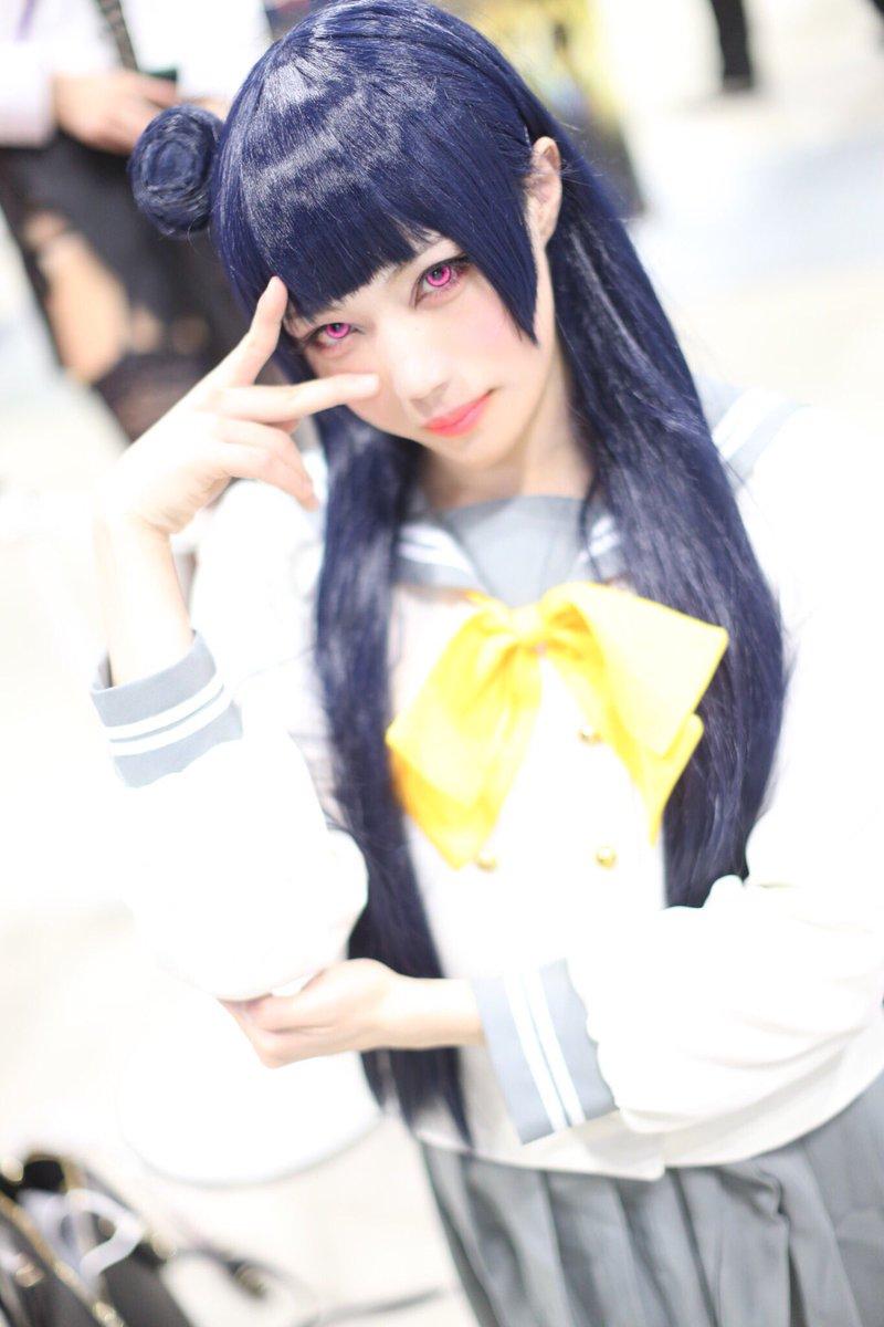 アニメジャパン2日目はヨハネでした😈😈📸:okadaさん#ラブライブサンシャイン #津島善子 #女装