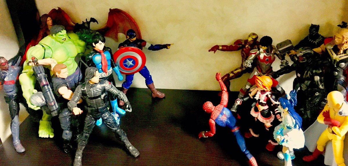 日米シビル・ウォー!#CivilWar#アベンジャーズ#avengers#フィギュアーツ#figma#仮面ライダー#Ul