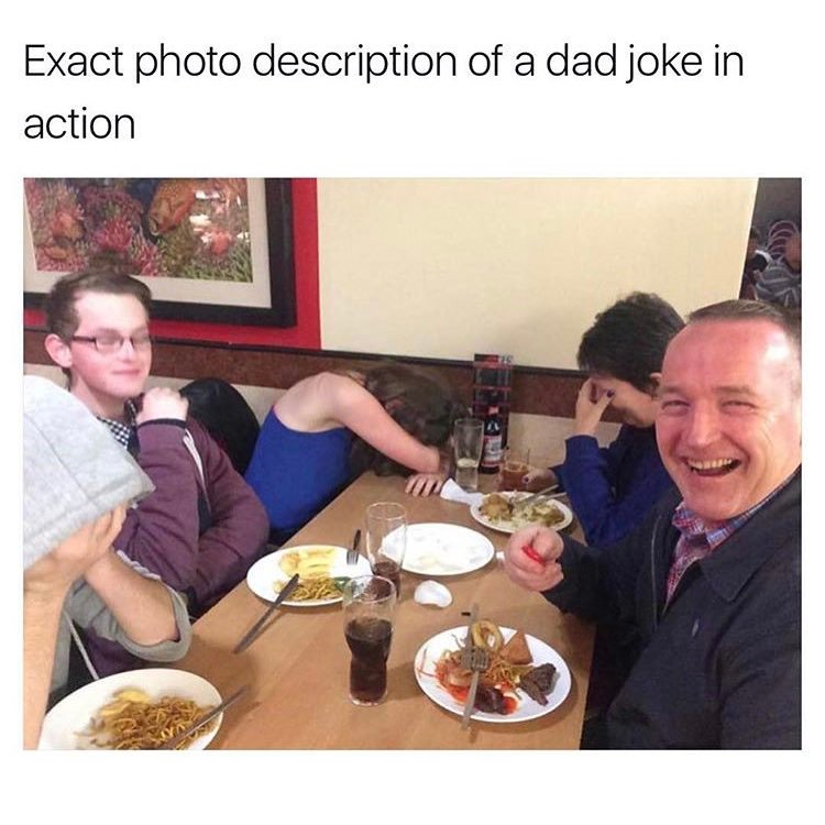 A photo of a dad joke in action.