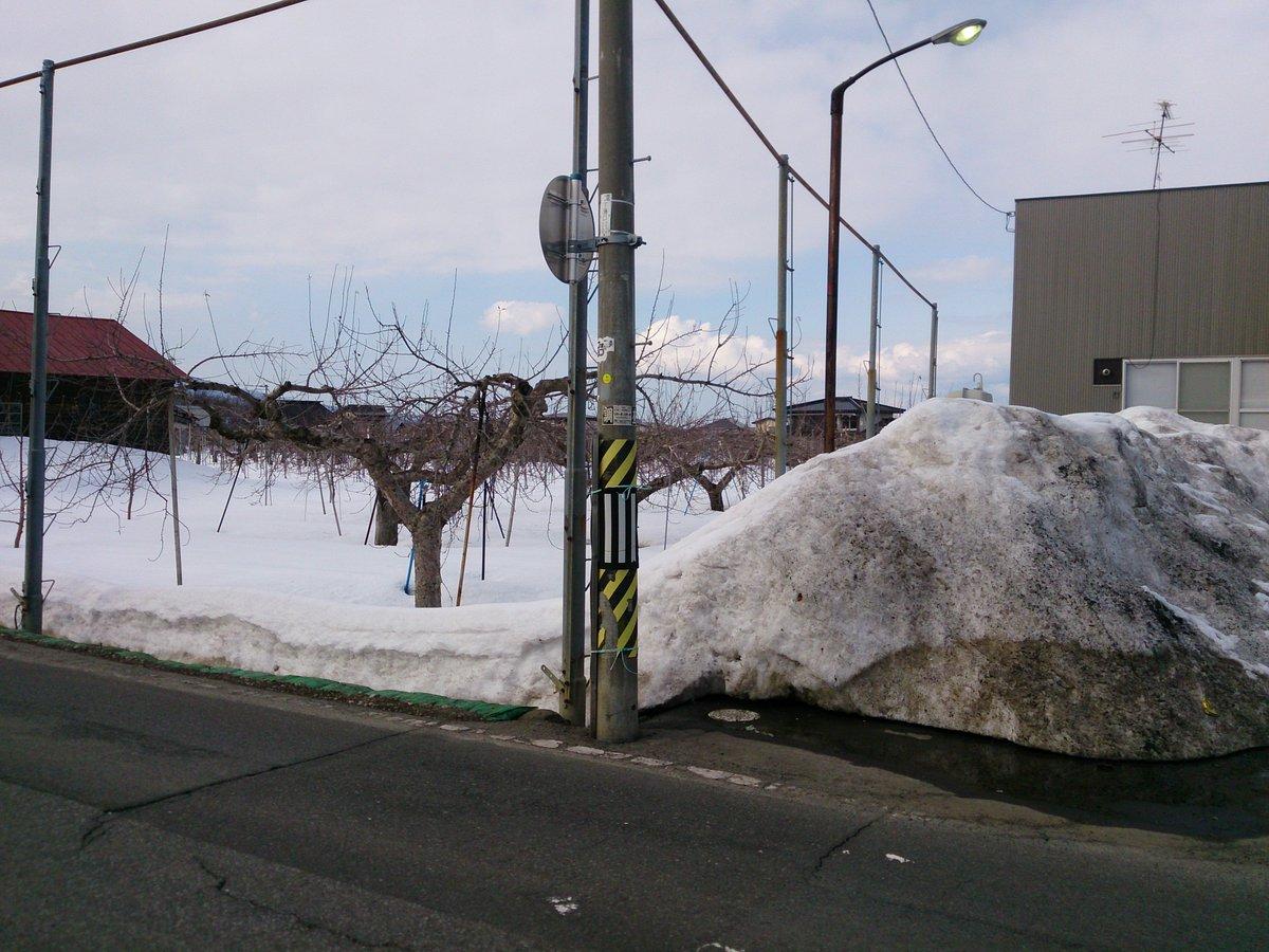 チト見てください!3月なのにこんなに雪が残ってますよ~! (4月まで残ってるかな...   #ふらいんぐうぃっち