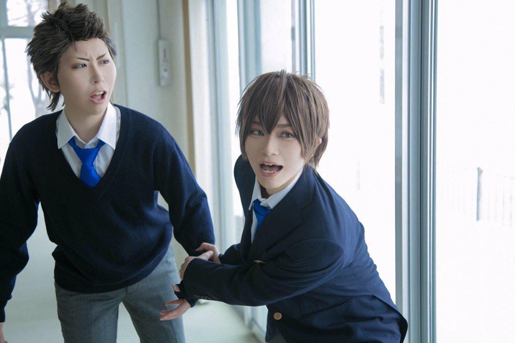 5号室ーー!!倉持  まーくん( )沢村  しろながフォト  うるんさん( )#ダイヤのA #コスプレ
