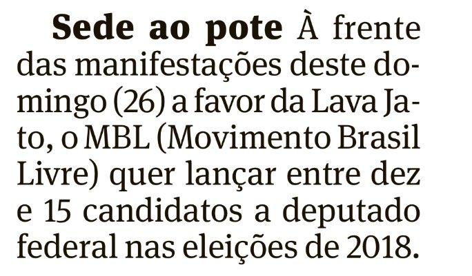 Braço-armado na defesa do governo Temer, o MBL está nas ruas hoje em pré-campanha para lançar candidatos a deputado federal em 2018 👇🏼🤔