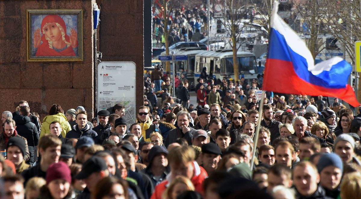 Anti-corruption protests in Russia draw biggest crowds since 2012 https://t.co/Cz2Uwuaatp