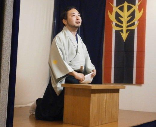 東京神保町らくごカフェにて、七井コム斎さんの「ガンダムUC講談会5〜大宙亜共栄圏の夢」を鑑賞。最終回だけあって3席とも激