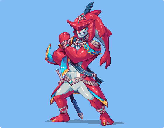 RT @ahruon: Prince Sidon #pixelart from BotW aka the nicest guy ever https://t.co/UgappBsOYi