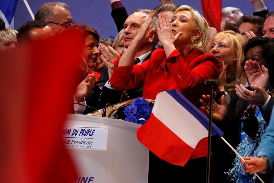 The 'European Union will die,' Marine Le Pen says to rally supporters
