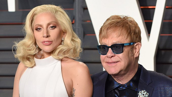 "Watch Lady Gaga and Stevie Wonder sing ""Happy Birthday\"" to Elton John"
