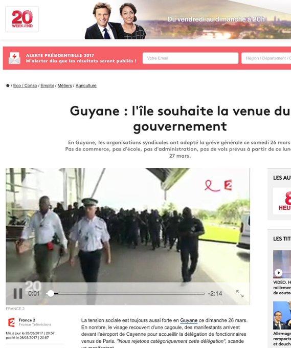 Apres @EmmanuelMacron , c'est au tour de @France2tv de se tromper sur la nature insulaire du département de la  #Guyane via @FarceGuyane