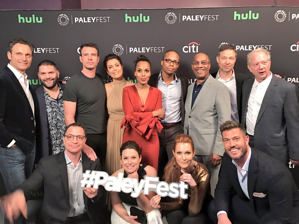 RT @paleycenter: Time for a @ScandalABC #PaleyFest group shot with this fabulous cast! 📺🌟👏🏻😍🍿🍷#Gladiators https://t.co/ZwiWeZ5mPa