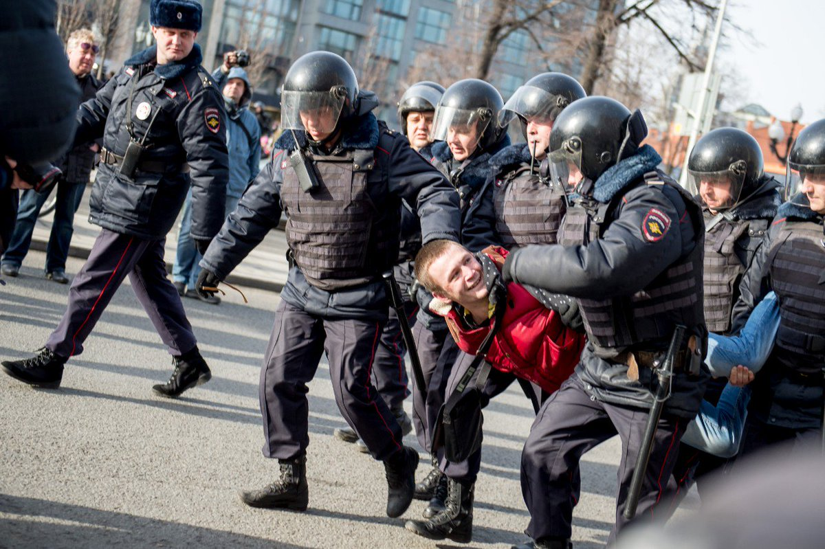 Hundreds arrested at huge anti-corruption protests across Russia.