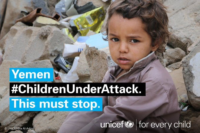 #Yemen: As war enters 3rd yr number of children injured & recruited nearly doubles in 12 months  https://t.co/EgqLT1iPTH#ChildrenUnderAttack