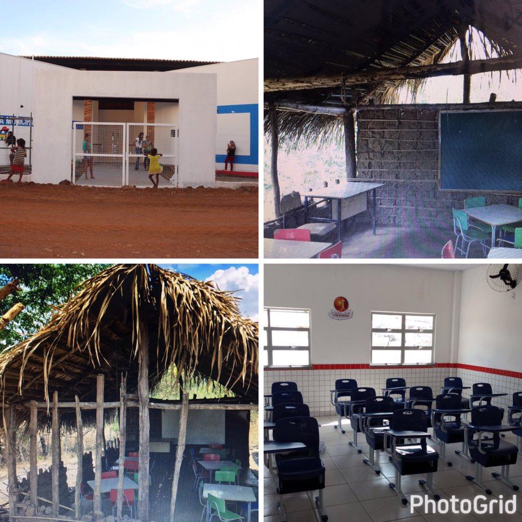 Passo a passo, na direção certa. Uma das escolas que vamos inaugurar hoje. Mudanças reais. Vejam antes e agora https://t.co/Xzu8R4g7we