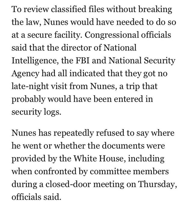 Did Nunes get his Trump transition-related intel from the White House? Because he's running outta non-WH options https://t.co/EZ4dxq76yE