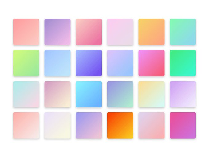 Pretty Gradients   Template freebie