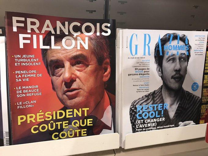 Un nouveau mag est en vente chez les marchands de presse : il s'appelle 'François Fillon'. La une, le sommaire et la dernière page... pub >