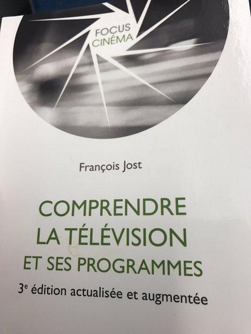Intéressante nouvelle édition de 'Comprendre la télévision et ses programmes' par @francoisjost. Sur la TV d'hier, d'aujourd'hui, de demain.