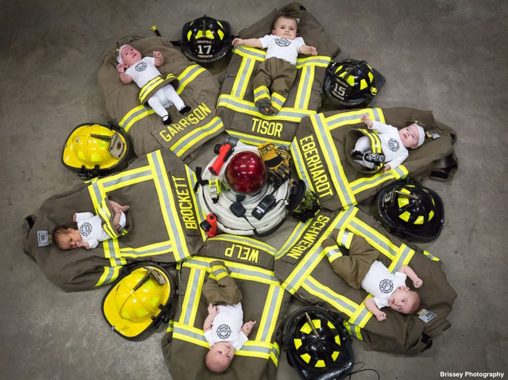 Iowa fire department welcomes six babies in seven months. 'We still have a job to do.' https://t.co/fPtuMlGXyW