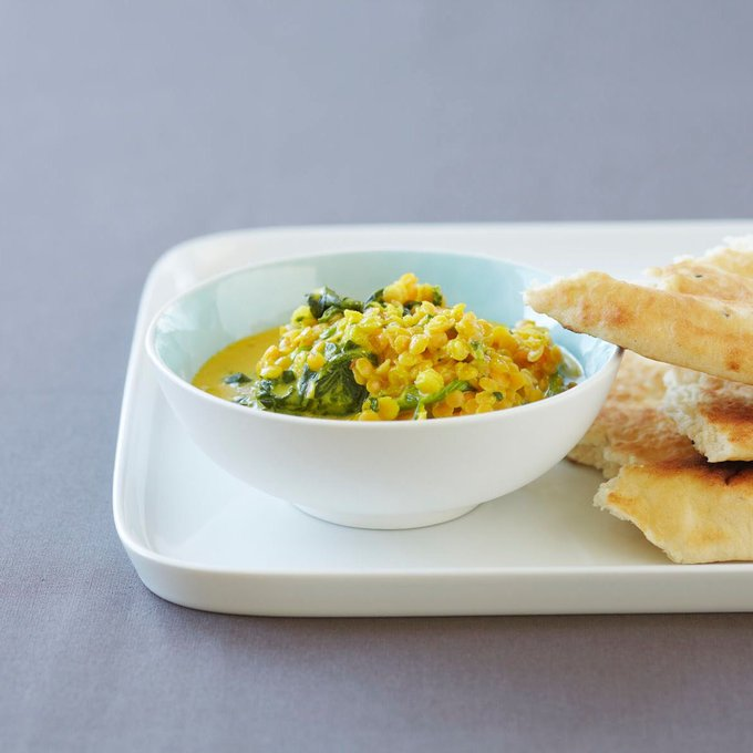 Spinach Dal  A great source of vitamin A, C, iron and plant protein!