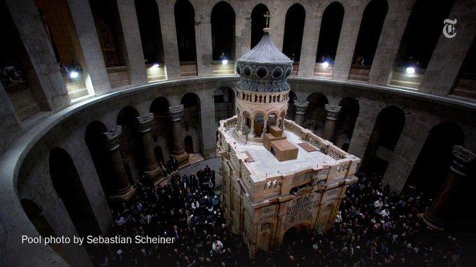 Tomb of Jesus reopens to public after $3 million restoration https://t.co/eMs9VoMvU1