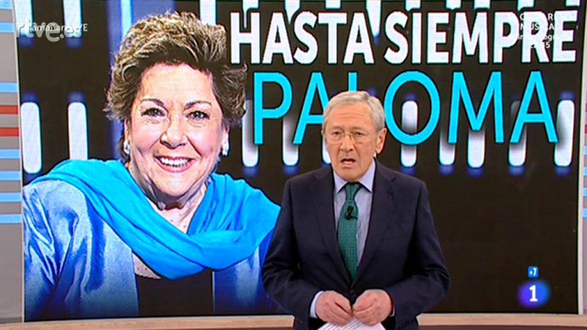 El adiós de Fernando Ónega a Paloma Gómez Borrero en @LaMananaTVE