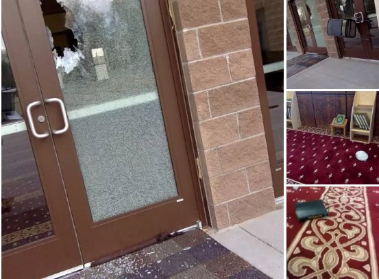 An unidentified man allegedly smashed glass, overturned benches, and tossed a Bible inside a Colorado mosque Sunday  https://t.co/gRTxGUsjfJ