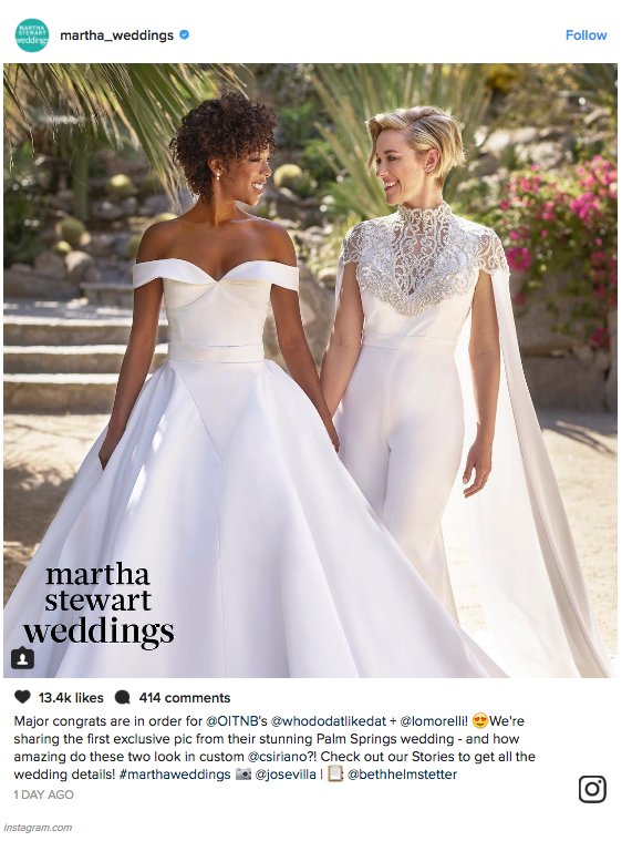 So. Much. Love. Here are OITNB's Samira Wiley and Lauren Morelli on their wedding day (we're not crying, you are) https://t.co/7O4MaXuPDP