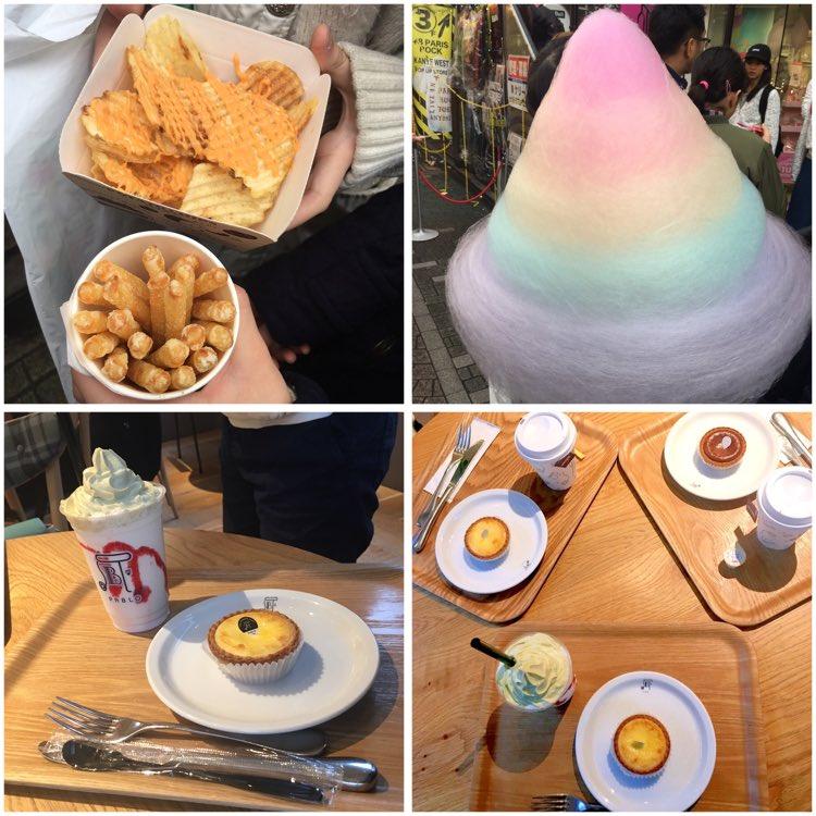 今日はお友達と原宿と表参道で遊んできました(´∇`)チーズケーキを食べに...カルビーのポテトはおすすめです(๑•̀ㅂ•