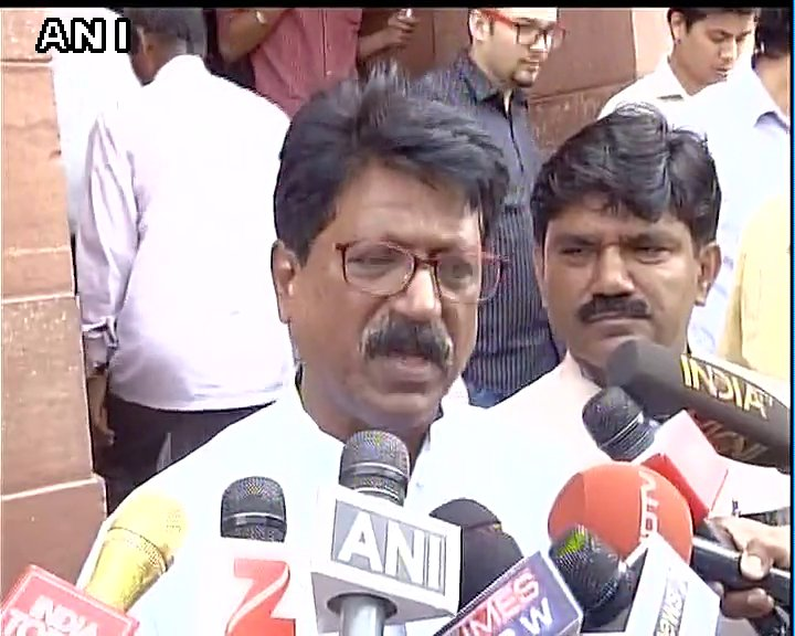 All airlines have come together banning him(Ravindra Gaikwad),but its our fundamental right:Arvind Sawant,Shiv Sena after meeting LS Speaker