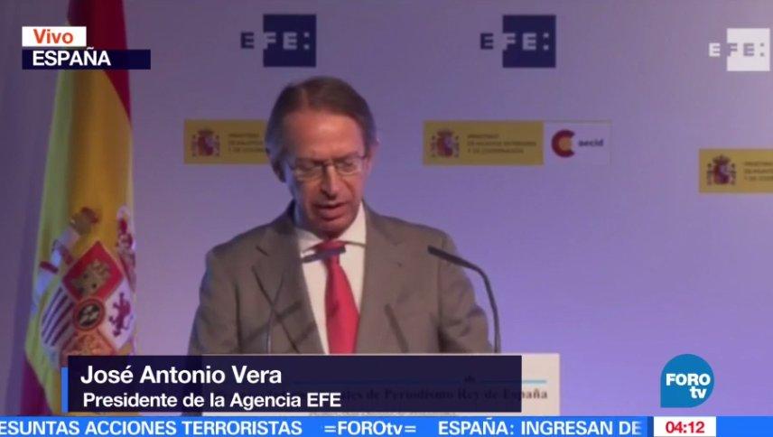 En vivo: José Antonio Vera toma la palabra durante los Premios Internacionales de Periodismo Rey de España https://t.co/8RTSxnzMcC