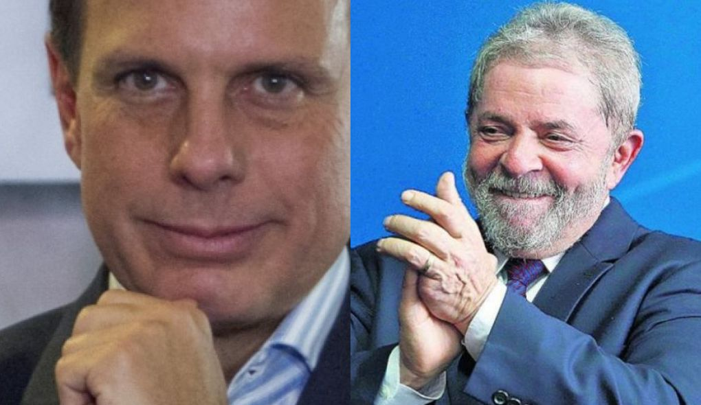 SP Doria (@jdoriajr) chama Lula de 'maior cara de pau do Brasil'