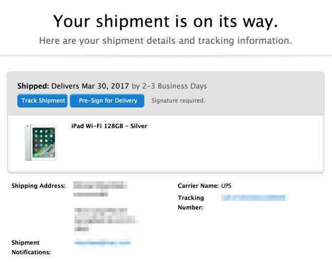 New $329 2017 #Apple #iPad with A9 processor now shipping, arriving March 30 https://t.co/UJmT7mSkkO